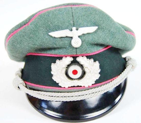 Gorra de Plato de Combate de Oficial de Panzer
